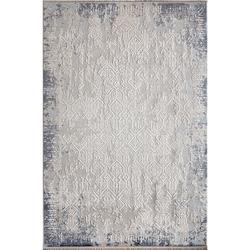 Bahariye Ezgi TW 5665 Makine Halısı (Beyaz/Mavi) - 79x150 cm
