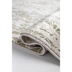 Bahariye Ezgi TW 5666 Makine Halısı (Beyaz/Yeşil) - 148x230 cm