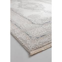 Bahariye Ezgi TW 5664 Makine Halısı (Beyaz/Mavi) - 148x230 cm