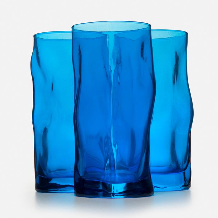 Resim  Bormioli Rocco Sorgente Cooler 3'lü Meşrubat Bardağı - Mavi