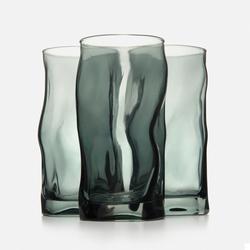 Bormioli Rocco Sorgente Cooler 3'lü Meşrubat Bardağı - Füme