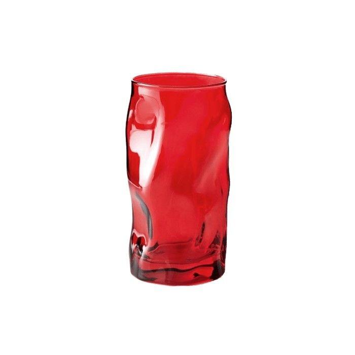 Bormioli Rocco Sorgente Cooler 3'lü Bardak Seti (45 cl) - Kırmızı