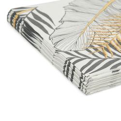 Roll-Up Party Dreams Altın Simli Yapraklar Kağıt Peçete - Beyaz - 20 Adet