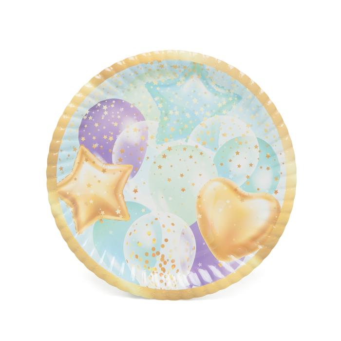 Resim  Roll-Up Party Dreams Karton Tabak 8'li Uçan Balonlar - Mavi / 23 cm