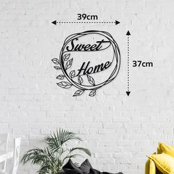 M&C Concept Sweet Home Metal Duvar Panosu   - Siyah