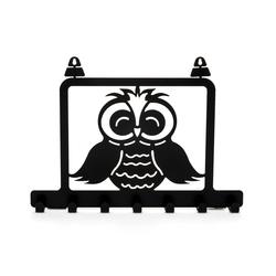 M&C Concept Owl Metal Duvar Anahtarlık   - Siyah