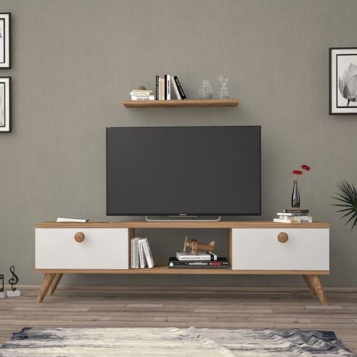 Just Home Terra 180 Cm Tv Ünitesi - Atlantik Çam/Beyaz