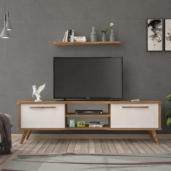 Just Home Leisa 160 Cm Tv Ünitesi - Atlantik Çam/Beyaz