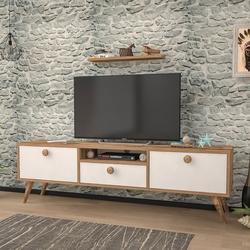 Just Home Raven 160 Cm Tv Ünitesi - Atlantik Çam/Beyaz