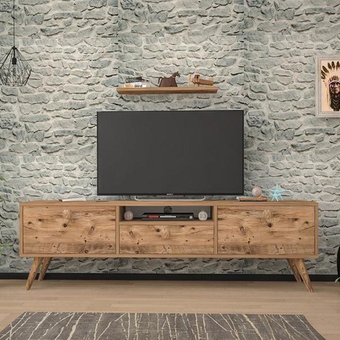 Just Home Raven 160 Cm Tv Ünitesi - Atlantik Çam