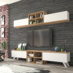Just Home Dante Tv Ünitesi - Atlantik Çam/Beyaz