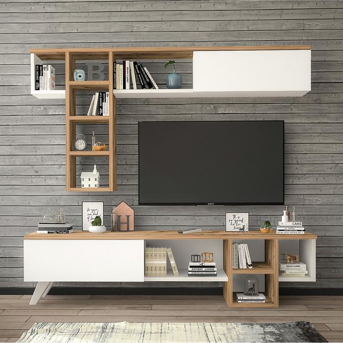 Just Home Luna Tv Ünitesi - Atlantik Çam/Beyaz