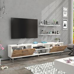 Just Home Siena Tv Ünitesi - Atlantik Çam / Beyaz