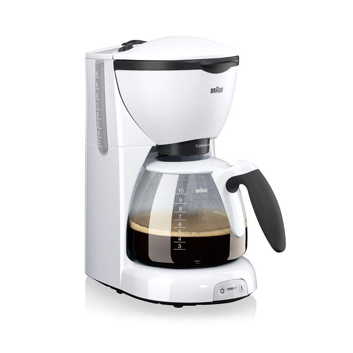 Resim  Braun KF520/1 Filtre Kahve Makinesi - Beyaz / 1200 Watt