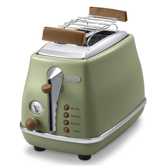 Resim  Delonghi CTOV 2103.GR Icona Vintage Ekmek Kızartma Makinesi - Yeşil / 900 Watt