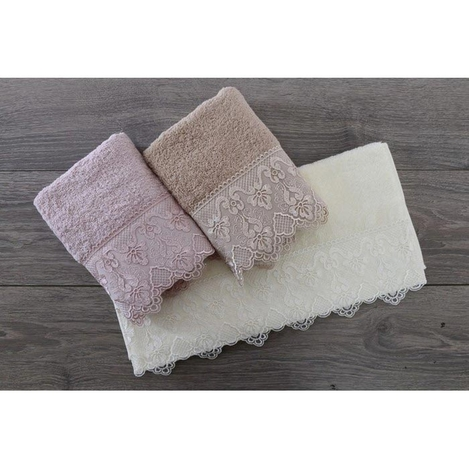 Minteks Cream-White Ahu Havlu (Beyaz) - 50x90 cm