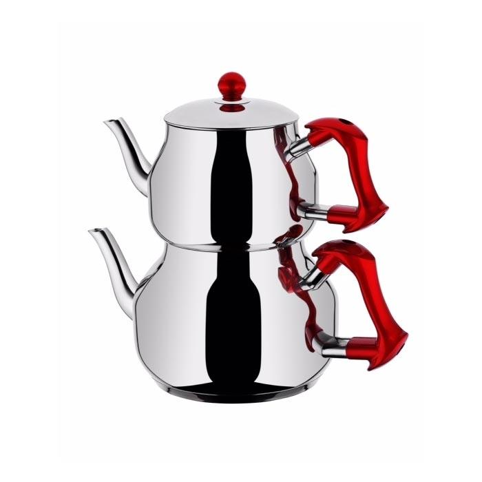 Resim  Taç Asya Mini Boy Çaydanlık - Kırmızı