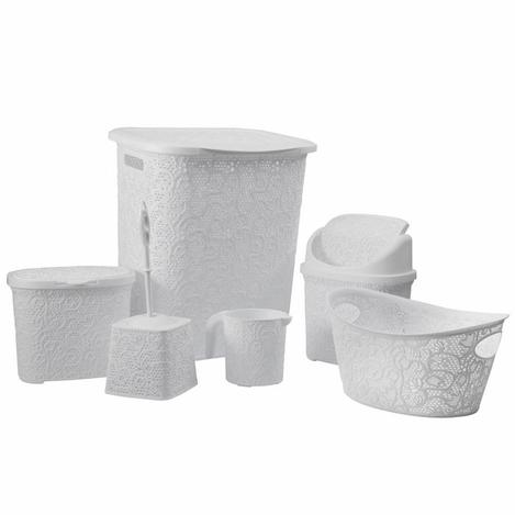 Resim  Tuffex TP8005 6'lı Banyo Seti - Beyaz