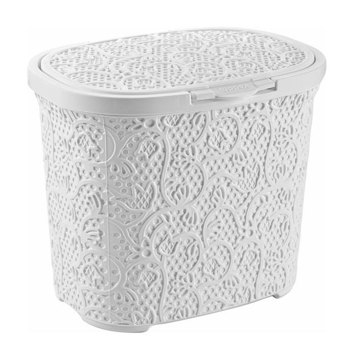 Resim  Tuffex Dantel Oval Deterjanlık - Beyaz