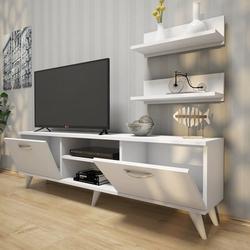 Rani A7 Duvar Raflı Kitaplıklı Tv Ünitesi - Beyaz