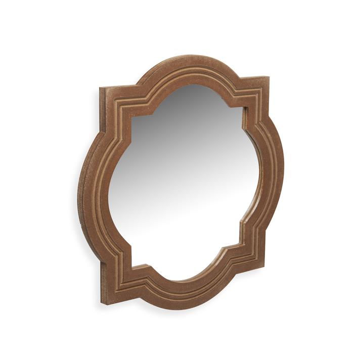 Özverler Ahşap El Boyaması Ayna - 44x44 cm