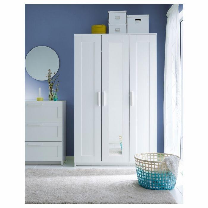 Resim  DSM Dizayn MNT202B 3 Kapaklı Aynalı Gardırop - Beyaz