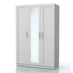 DSM Dizayn MNT202B 3 Kapaklı Aynalı Gardırop - Beyaz