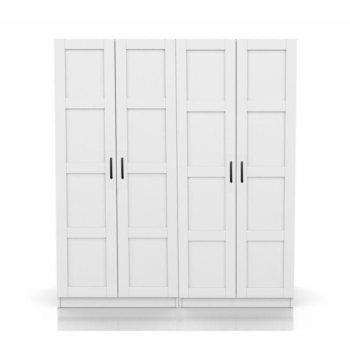 Resim  DSM Dizayn MNT301B 4 Kapaklı Gardırop - Beyaz