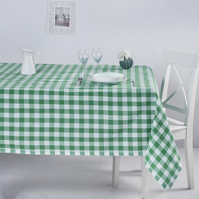 DC Home Kareli Masa Örtüsü (Yeşil) - 160x160 cm