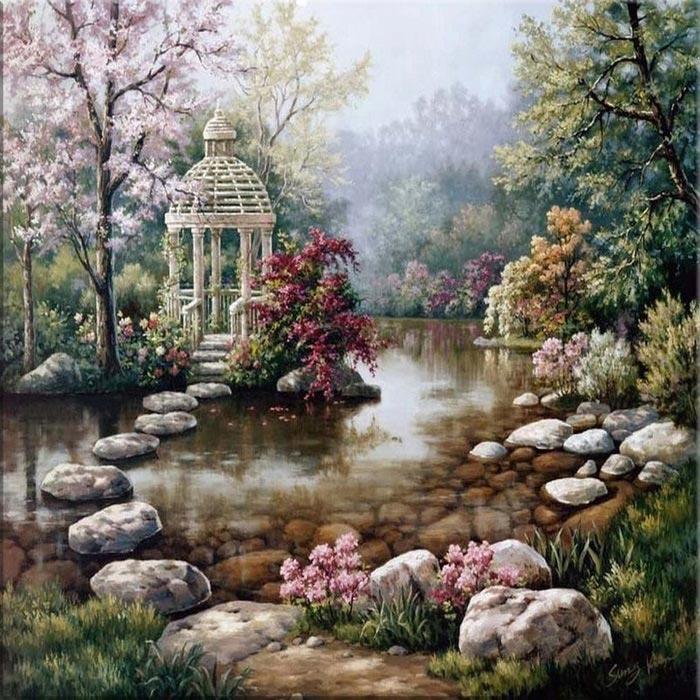 Resim  Arte P1223 Gizli Bahçe Kanvas Tablo - 30x30 cm