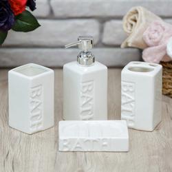 Arow Valente 4' lü Seramik Banyo Seti - Beyaz