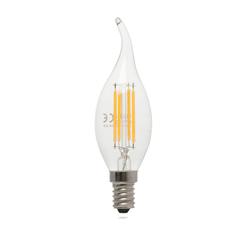 Heka Kıvrık Uç 4 Watt E14 Tipi 272Lm 2700K Gün Işığı Led  Ampul