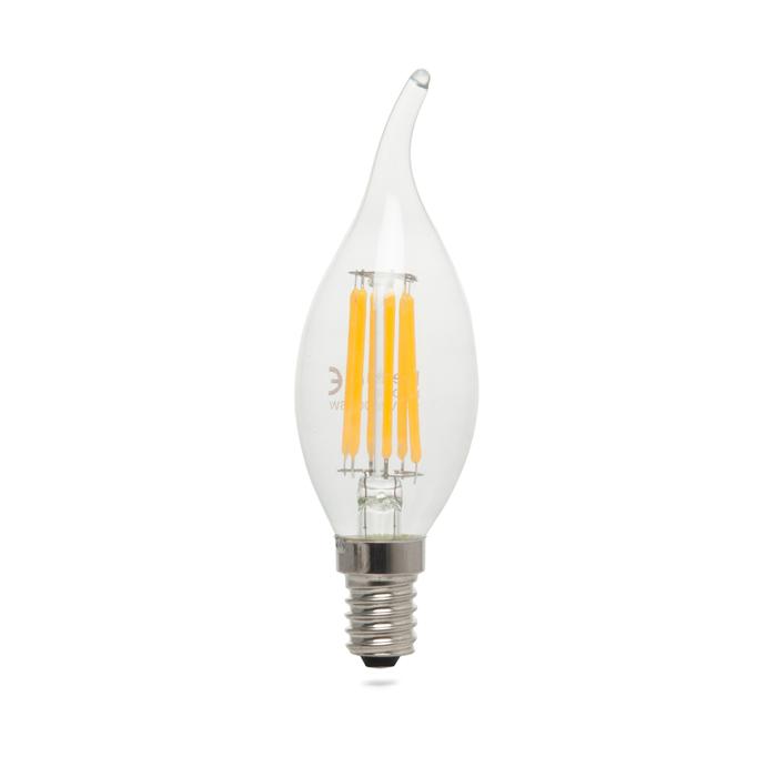 Resim  Heka Kıvrık Uç 6 Watt E14 Tipi 407Lm 2700K Gün Işığı Led  Ampul