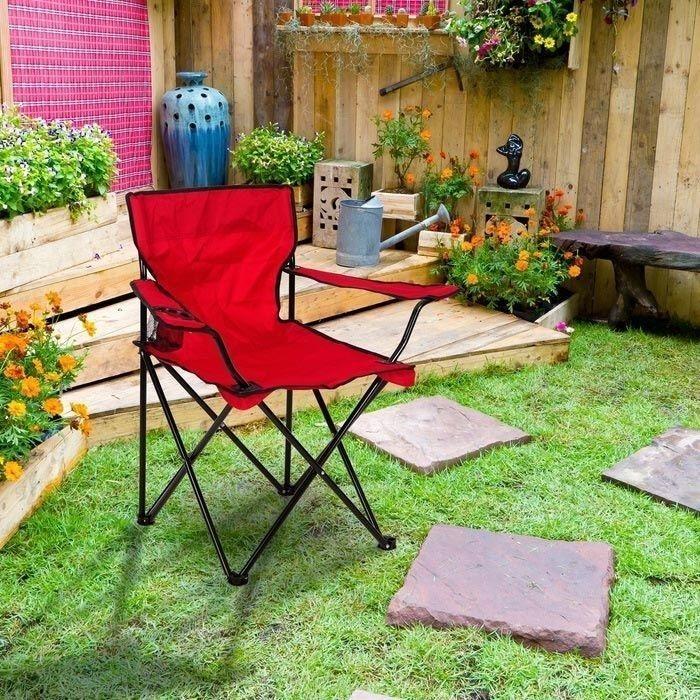 Resim  Simple Living Katlanır Kamp ve Plaj Sandalyesi - Kırmızı
