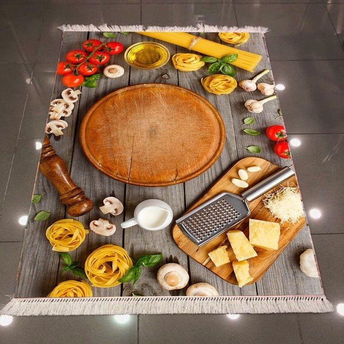 Resim  Else 3D Kahvaltı Mutfak Dokuma Şönil Halı - 80x200 cm