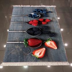 Else 3D Kaşık Meyveli Dokuma Şönil Halı - 80x150 cm