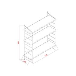 Decormet Armoni 3 Raflı Duvar Rafı Seti - Beyaz