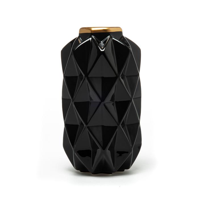 Sera Bianco Ayışığı Vazo - Siyah