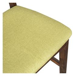Vitale Middle Doğal Ahşap Masa Sandalye Seti – Yeşil