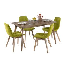 Vitale Pera Yemek Masası Seti - Yeşil