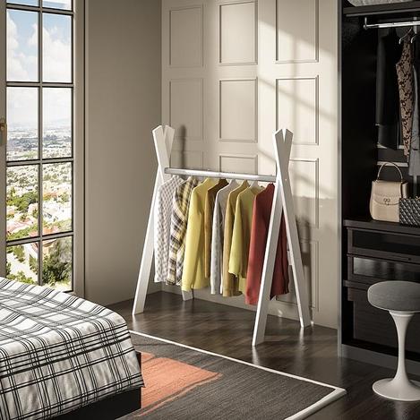 House Line Kelebek Elbise Askılığı - Beyaz