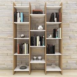 Eyibil Mobilya Rüzgar Modern Kitaplık - Ceviz / Beyaz