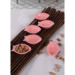 Keramika Mini Balık Sosluk (Pembe) - 8 cm