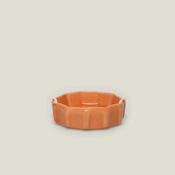 Keramika Mini Çark Sosluk - Turuncu / 8 cm