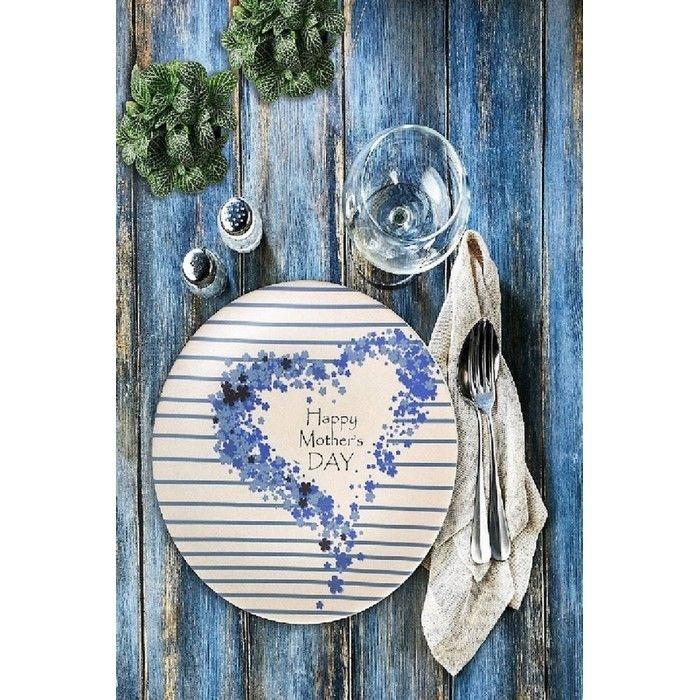 Keramika Happy Mother'S Day Kera Art Servis Tabağı