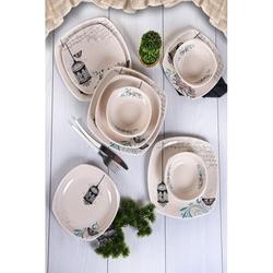 Keramika Retro 24 Parça Yemek Takımı