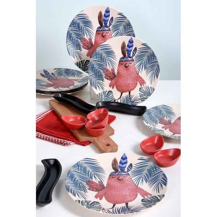 Keramika 6 Kişilik 16 Parça Çeyiz Paketi - Kızıldereli Baykuş