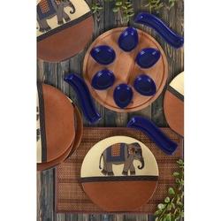 Keramika 6 Kişilik 16 Parça Çeyiz Seti - Kahverengi Fil