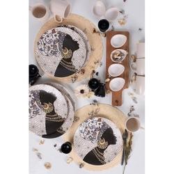 Keramika 26 Parça 6 Kişilik Kahvaltı Seti - Samburu