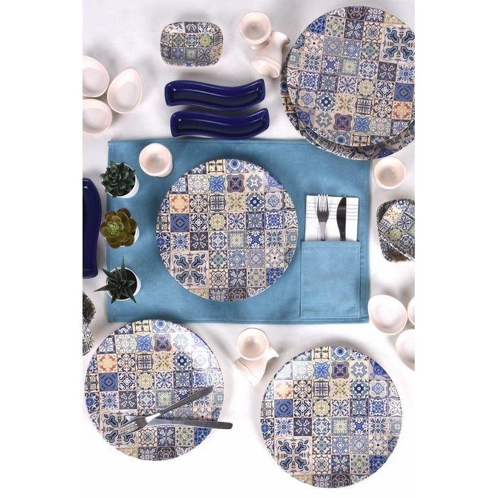 Keramika 27 Parça 6 Kişilik Kahvaltı Takımı - Etnik